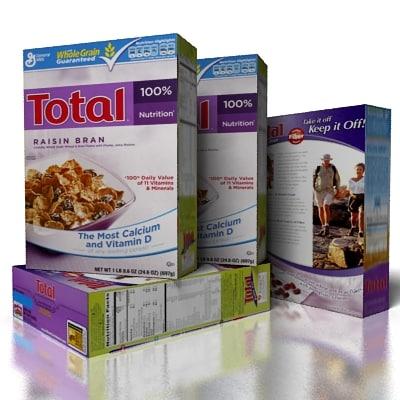 cereal total 3d model