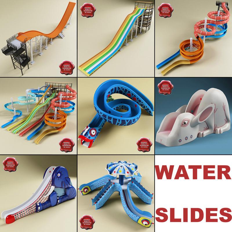 3dsmax water slides v3