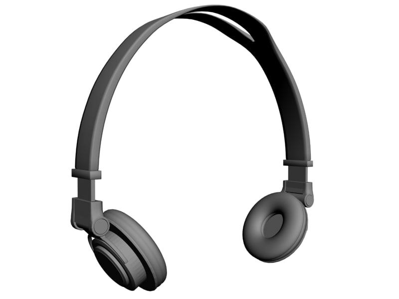 3d model headphones head phones