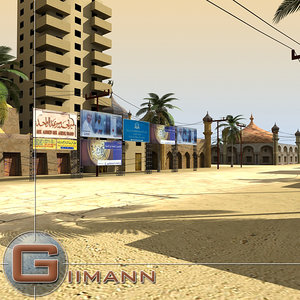 3d 3ds arab town