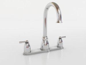 3d model moen banbury faucet