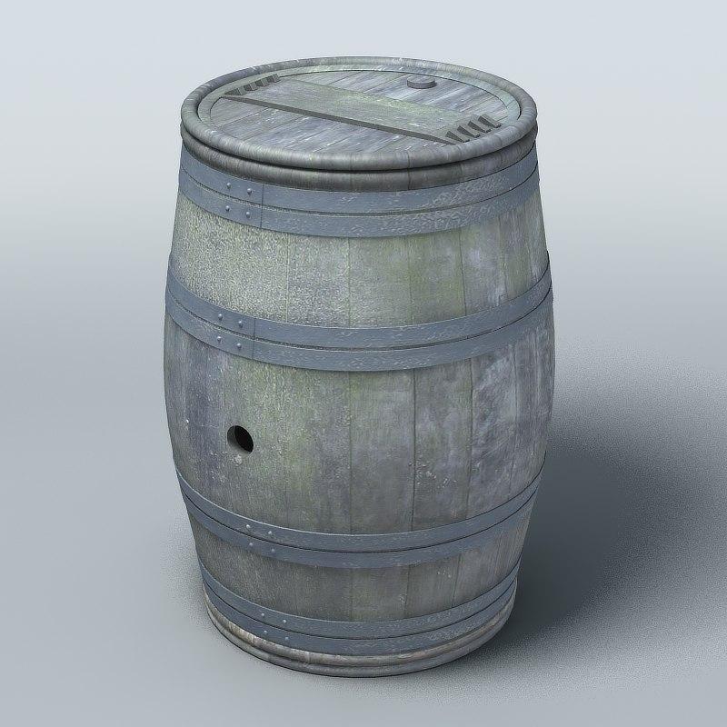 old barrel 3ds
