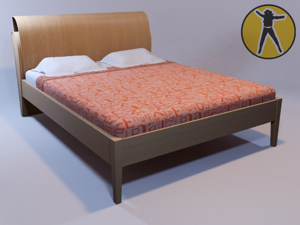 3d model of bed ready