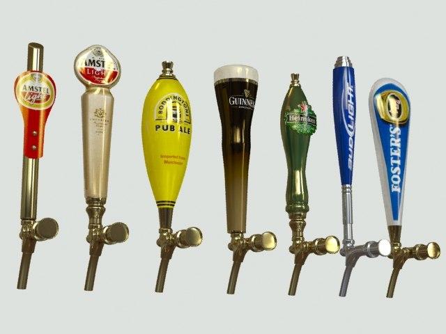 3ds max beer taps