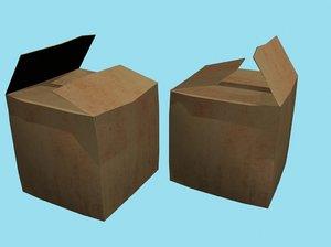 x cardboard box 3d max