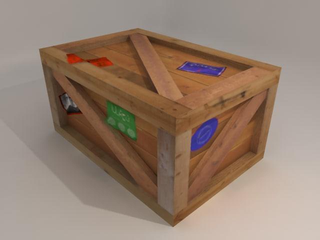 obj vintage crate