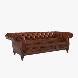 chesterfield couch 3d model