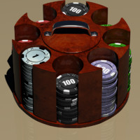 3d model poker chip carousel
