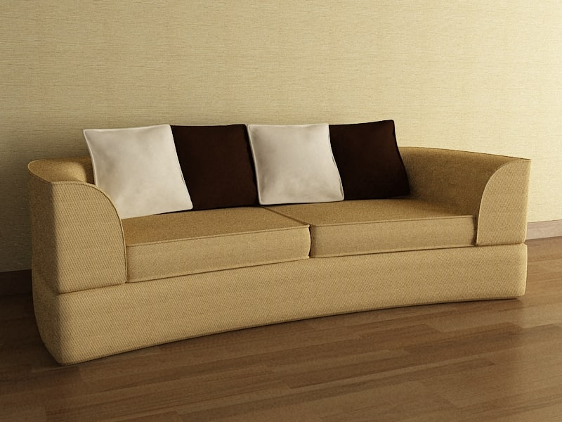 couch scene 3ds