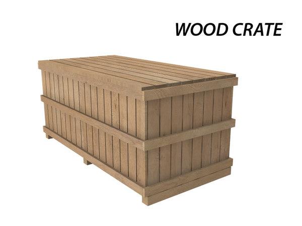 3dsmax wood crate