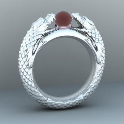 3d dragon ring