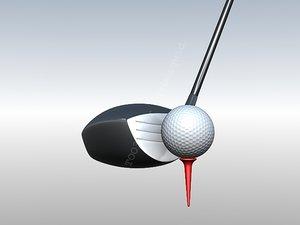 3d model golf driver