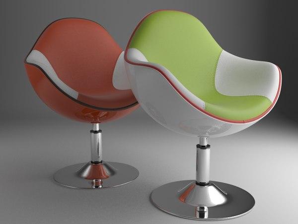 3d model modern lounge chair