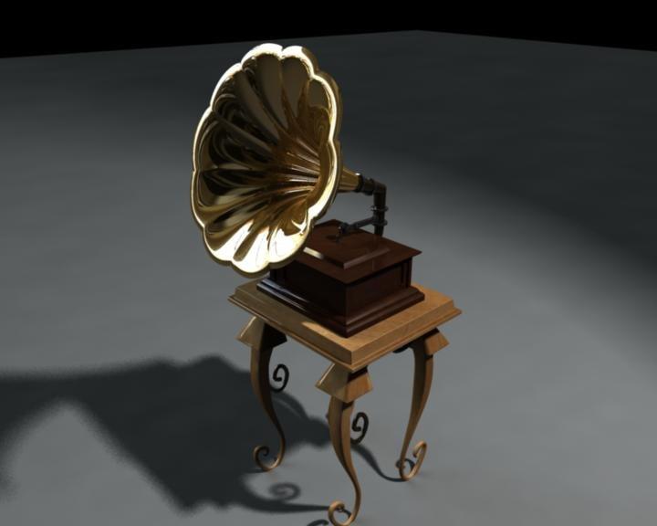 gramophone antique 3ds