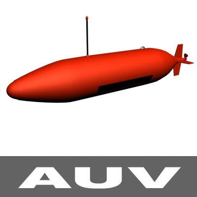 3d model auv autonomous underwater