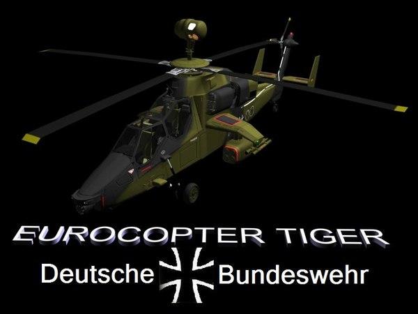 3d tiger uh eurocopter model