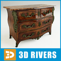 kingwood commode 3d max