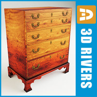 Mahogany chest by 3DRivers