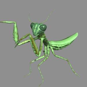 mantis 3d blend