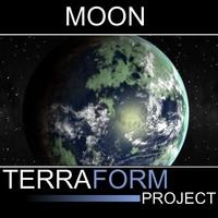 moon terraformed 3d max