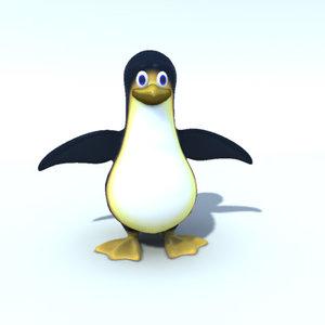 maya penguin character