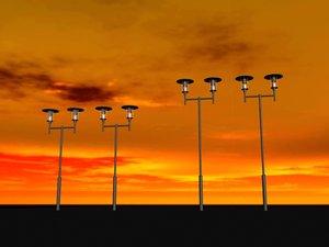 3ds street light fixture