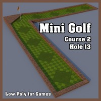 3d mini golf hole