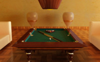 3d model pool table