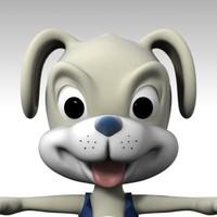 3d puppie cartoon model