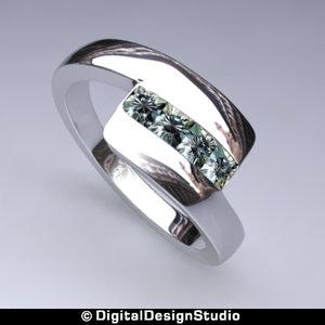 ring diamond 153 3d obj