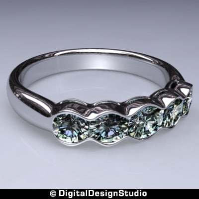 ring diamond 160 3d obj