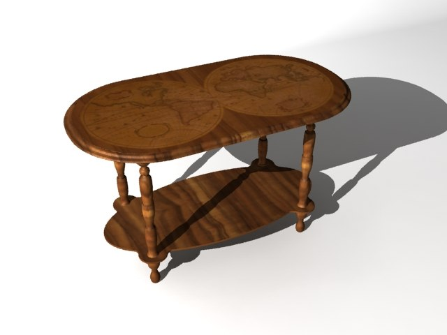 3ds old style decoration table wood