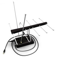 3d indoor tv antenna model