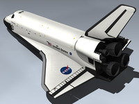3d space shuttle discovery model