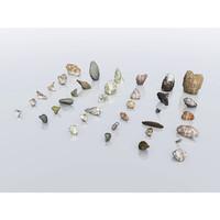 3d model boulders stone