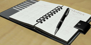 filofax notebook 3d max