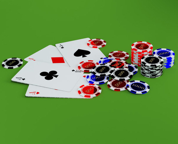casino cards chips 3d max