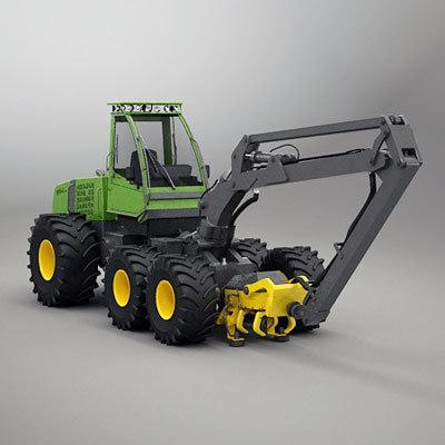 timberjack timber jack 3d model