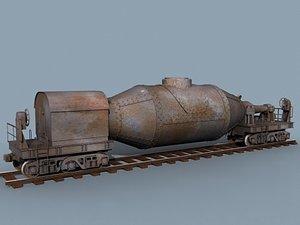 3d model torpedo car railroad
