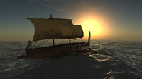 3d trireme ancient greek