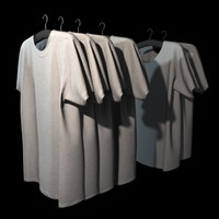 3ds max hanging t-shirts