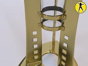 3ds max vase art nouveau metal
