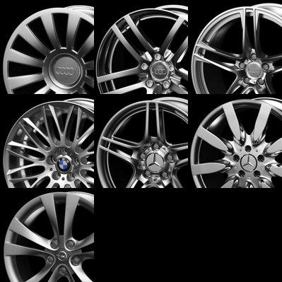 mercedes-benz original wheel rims 3d model