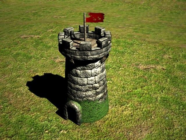 3d model watch tower