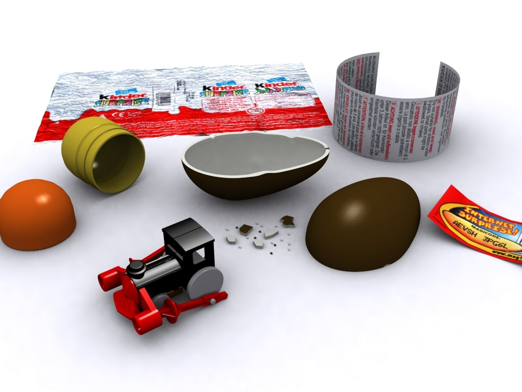 3d model kinder surprise egg toy