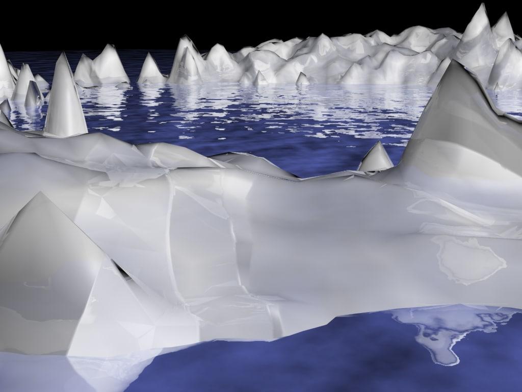glacier ice 3d max