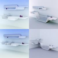 minimalistic bathroom design 3d max