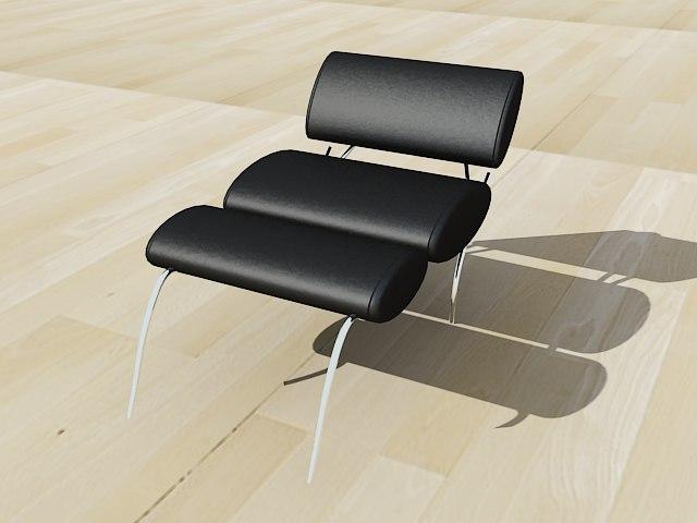 3d 3ds design modern chair