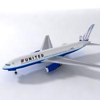 b 767 united 3d obj