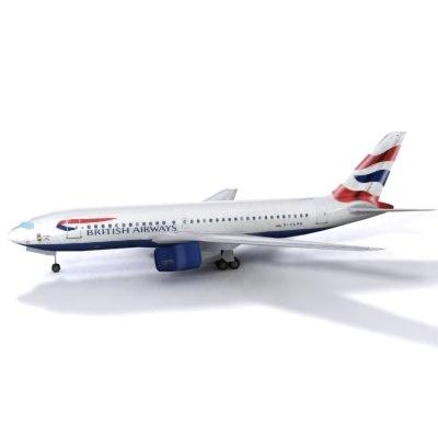 b 767 3d max